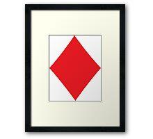 Poker Suit Diamond Framed Print