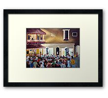 `Al Piccolo Bar' at night - in Piazza Umberto - Capri Framed Print