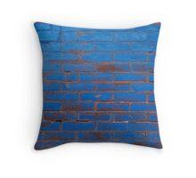 Blue Brick Throw Pillow