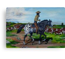 Surveying The Herd Canvas Print