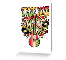 Peace-Love-Music Greeting Card