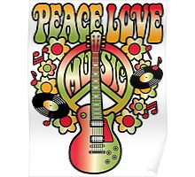 Peace-Love-Music Poster