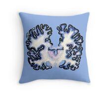 Galaxy Nissl Stain Brain Throw Pillow