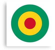 Guinean Air Force - Roundel Canvas Print