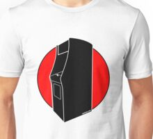 Retrogamer - Arcade Cabinet Silhouette - RED Unisex T-Shirt