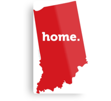 Indiana HOME RED Metal Print