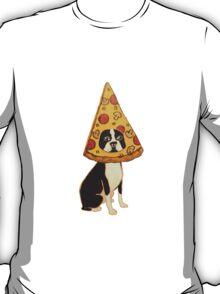 Boston Terrier Pizza Dog T-Shirt