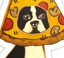 Boston Terrier Pizza Dog Sticker