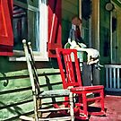 Two Rocking Chairs on Porch by Susan Savad