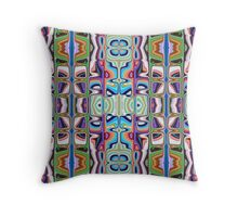 Abstract Pattern of Colors Throw Pillow