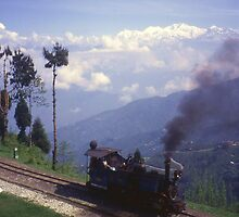 Steam Engine on Darjeeling Railway, India. by Peter Stephenson