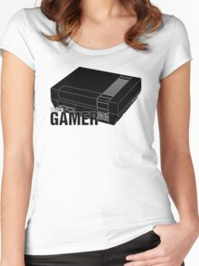 Retrogamer - Console Silhouette Women's Fitted Scoop T-Shirt