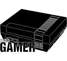 Retrogamer - Console Silhouette Photographic Print