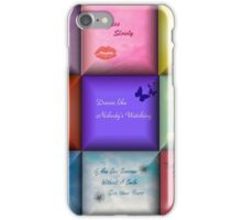 Inspirational Quotes Abstract Art iPhone Case/Skin