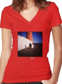 Holga Lighthouse Women's Fitted V-Neck T-Shirt