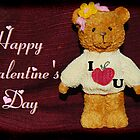 Valentine's Day Card - Teddy Bear Loves You by HeavenOnEarth