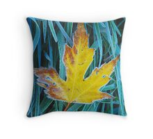 Frosted Maple Throw Pillow