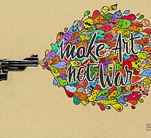 Make Art, Not War by vexxart