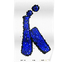 Stained Glass Blue Bottle Poster