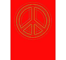 Peace Sign Symbol Abstract 2 Photographic Print