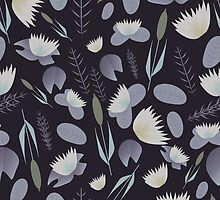 Lake plants pattern illustration by DavidMurk