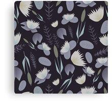 Lake plants pattern illustration Canvas Print