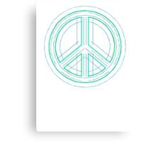 Peace Sign Symbol Abstract 1 Canvas Print