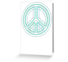 Peace Sign Symbol Abstract 1 Greeting Card