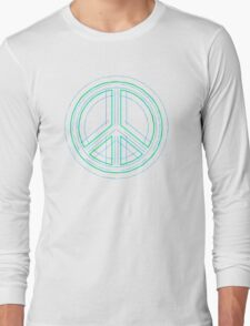 Peace Sign Symbol Abstract 1 Long Sleeve T-Shirt