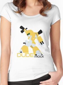 Dude I Rock (medabots) Women's Fitted Scoop T-Shirt
