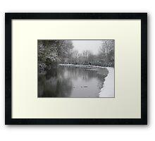 Snow Scene Framed Print