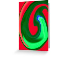 Green and Red Swirl Greeting Card
