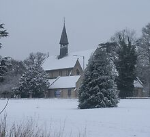 Snow Scene Church by Amie Swannell