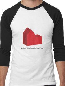 We Built This City on Rock & Wheat Men's Baseball ¾ T-Shirt