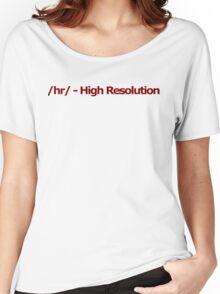 /hr/ - High Resolution 4chan Logo Women's Relaxed Fit T-Shirt