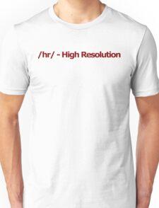 /hr/ - High Resolution 4chan Logo Unisex T-Shirt