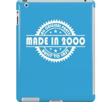 MADE IN 2000 iPad Case/Skin
