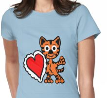 Be My Valentine Tiger Cub Womens Fitted T-Shirt