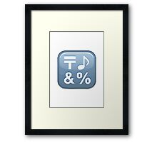 Input Symbol For Symbols Apple / WhatsApp Emoji Framed Print