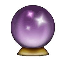 Crystal Ball Apple / WhatsApp Emoji by emoji