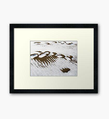 Sand and snow Framed Print