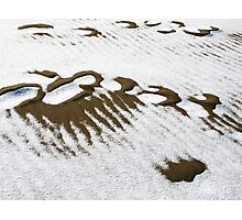Sand and snow Photographic Print
