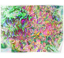 Digital Oil Leaves and Colors Poster