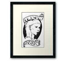 Die Antwoord Tattoo Style Yolandi  Framed Print