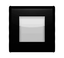 Black Square Button Apple / WhatsApp Emoji by emoji