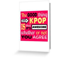 GOOD THING ABOUT KPOP - PINK Greeting Card