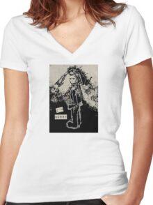i'm sorry sinibunny Women's Fitted V-Neck T-Shirt