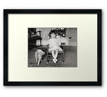 Little Girl with Stuffed Toys, 1922 Framed Print