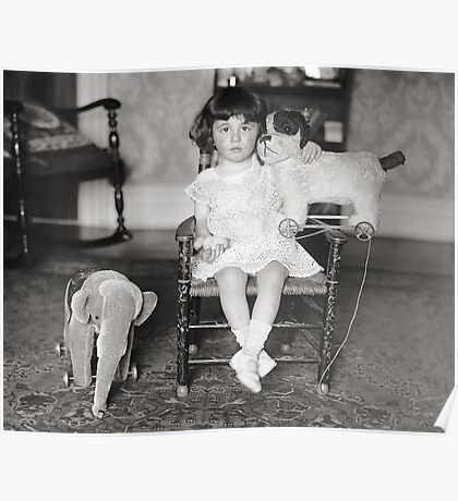 Little Girl with Stuffed Toys, 1922 Poster