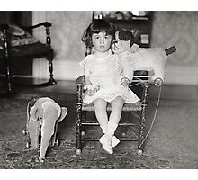 Little Girl with Stuffed Toys, 1922 Photographic Print